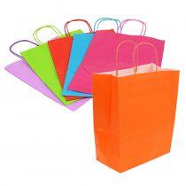 Sacchetti di carta 30 cm x 23 cm x 12 cm colorati 30 pezzi