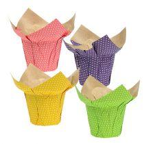 Vaso di carta Ø12cm colori assortiti 8 pezzi
