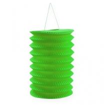 Lanterna di carta verde 10 cm H13 cm 8 pezzi