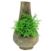 Vaso per piante in legno di Paulownia Ø17cm H30cm