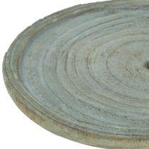 Piatto decò in legno di paulownia Ø22cm