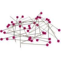 Aghi con testa di perla Ø6mm 65mm rosa