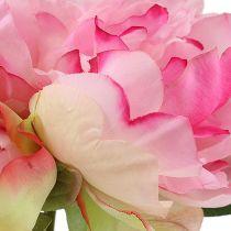 Peonie con bocciolo rosa L30cm 2 pezzi