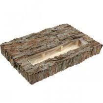 Sottobicchiere decorativo con trogolo in corteccia di pino 45×30cm H6cm