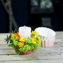 Teglia per fioriera, tortiera per piantare, vaso in ceramica H5cm Ø12,5cm 3 pezzi