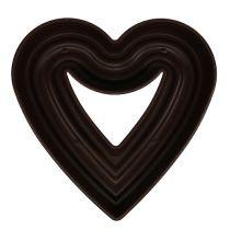 """Pianta cuore """"Amora"""" 45 cm marrone, 1p"""
