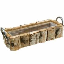 Fioriera in betulla con manici 40 × 1513 cm in legno di betulla deco