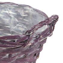 Cesto per piante rotondo viola scuro Ø20cm H10cm