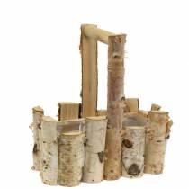 Piantare i rami di betulla con manico 24x14,5 cm H25,5 cm