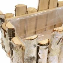 Piantare cesto rami di betulla 29x17 cm H30cm