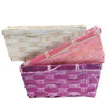 Portatrucioli quadrato viola/bianco/rosa 8pz