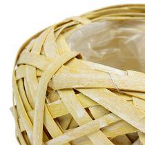 Vaso per fioriera giallo Ø20cm H9cm