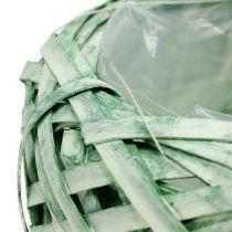 Vaso per fioriera verde Ø20cm H9cm