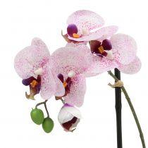 Phalaenopsis artificiale viola-bianco in tazza H38cm