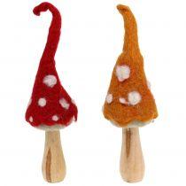 Funghi in piedi Decorazione autunnale 2St
