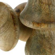 Fungo legno di mango legno naturale fungo decorazione autunnale Ø5cm H7.5cm 6 pezzi