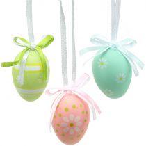 Uova di Pasqua da appendere multicolori 4cm 12pz