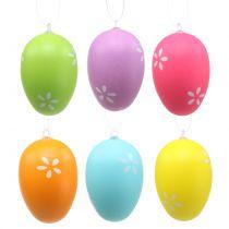 Uova di Pasqua per appendere colorate 6 cm 12 pezzi
