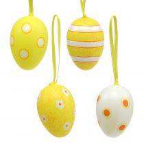 Appendiabiti in plastica per uova giallo 6 cm 12 pezzi