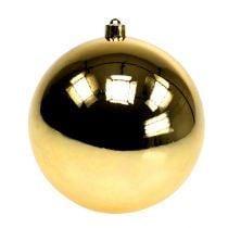 Palla di plastica oro piccola Ø14cm 1p