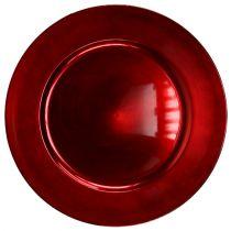 Piatto di plastica rosso Ø17cm 10 St