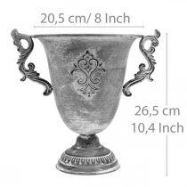 Tazza grigia Ø20,5cm H26,5cm