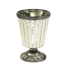 Bicchiere tealight in argento contadino H11cm