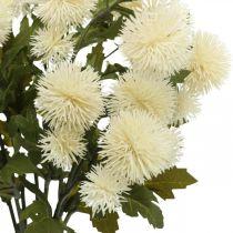 Ramo di pompon crema deco ramo autunno 55cm 4 pezzi