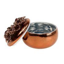 Scatola di porcellana di rame Ø7,5cm H6cm