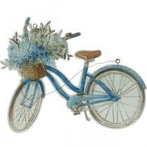 Cartello decorativo in legno per bicicletta Cartello decorativo estivo da appendere blu, bianco 31 × 25 cm