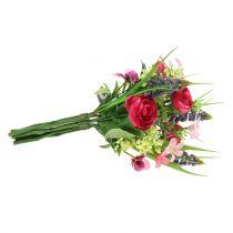Profumo di ranuncolo con giacinti d'uva Rosa 25 cm