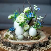 Bouquet di ranuncoli con giacinti d'uva bianchi 25cm