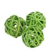 Rattan Ball Spring Green Ø4cm 12 pezzi