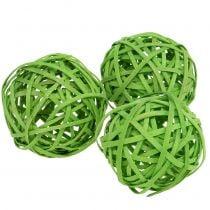 Rattanball verde chiaro Ø6cm 6 pezzi