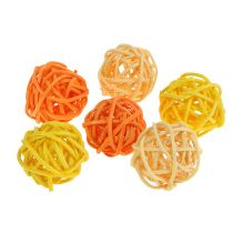 Rattanball Albicocca giallo arancio 72 pezzi