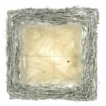 Rami di cuscino per piante lavati di bianco 40 cm x 40 cm H10 cm