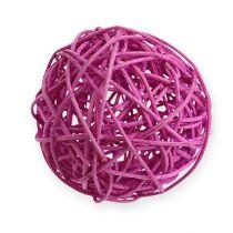 Palla in rattan 10 cm viola 10 pezzi