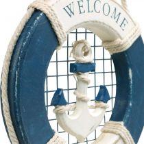Salvagente anulare decorativo, marittimo, galleggiante da appendere Ø14cm