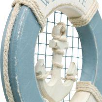 Decorazione marittima, salvagente anulare con ancora, anello da nuoto decorativo Ø14cm