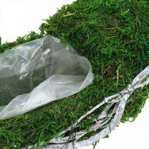 Anello di piante ghirlanda di muschio con viti e verde muschio, bianco Ø35cm