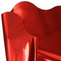 Bracciale Rondella rosso metallizzato bicolore 60cm 50pz