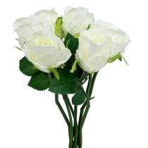 Rosa bianca Ø6cm L30cm 6 pezzi