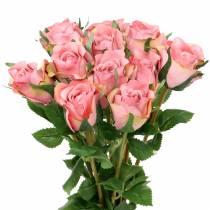 Rose old rose 42cm 12pcs