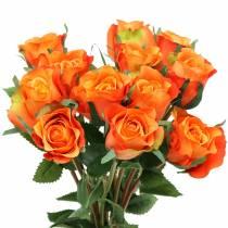 Rose Orange 42cm 12 pezzi
