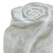 Gioielli gravi Rose decorazione tomba rose in cemento H7cm 6 pezzi
