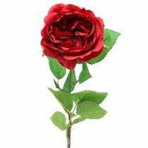 Rosa fiore artificiale rosso 72 cm