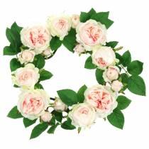 corona di rose rosa Ø35cm