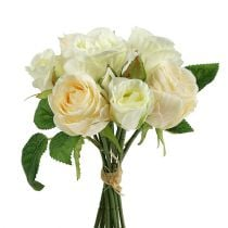 Bouquet di rose crema 26 cm