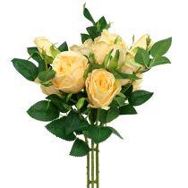 Crema con bouquet di rose L46cm