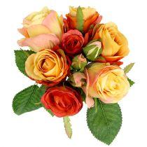Bouquet di rose Arancio Ø17cm L25cm